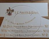 LC Smith 2, 3, 5 or 8 typewriter decal set