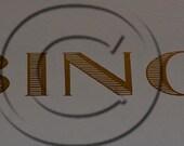 Bing Typewriter Water Slide Decal