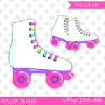 Roller skates clipart, Roller skating clip art, Skating clipart, Skates clipart, Roller skating birthday, Commercial Use, INSTANT DOWNLOAD