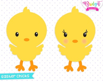 Easter chicks clip art Easter clipart cute chicks baby | Etsy