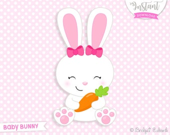 easter bunny clipart etsy rh etsy com white easter rabbit free clipart easter rabbit clipart free