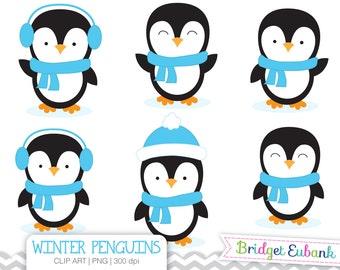 penguin clipart etsy rh etsy com penguin clip - swimming penguin clip art black and white