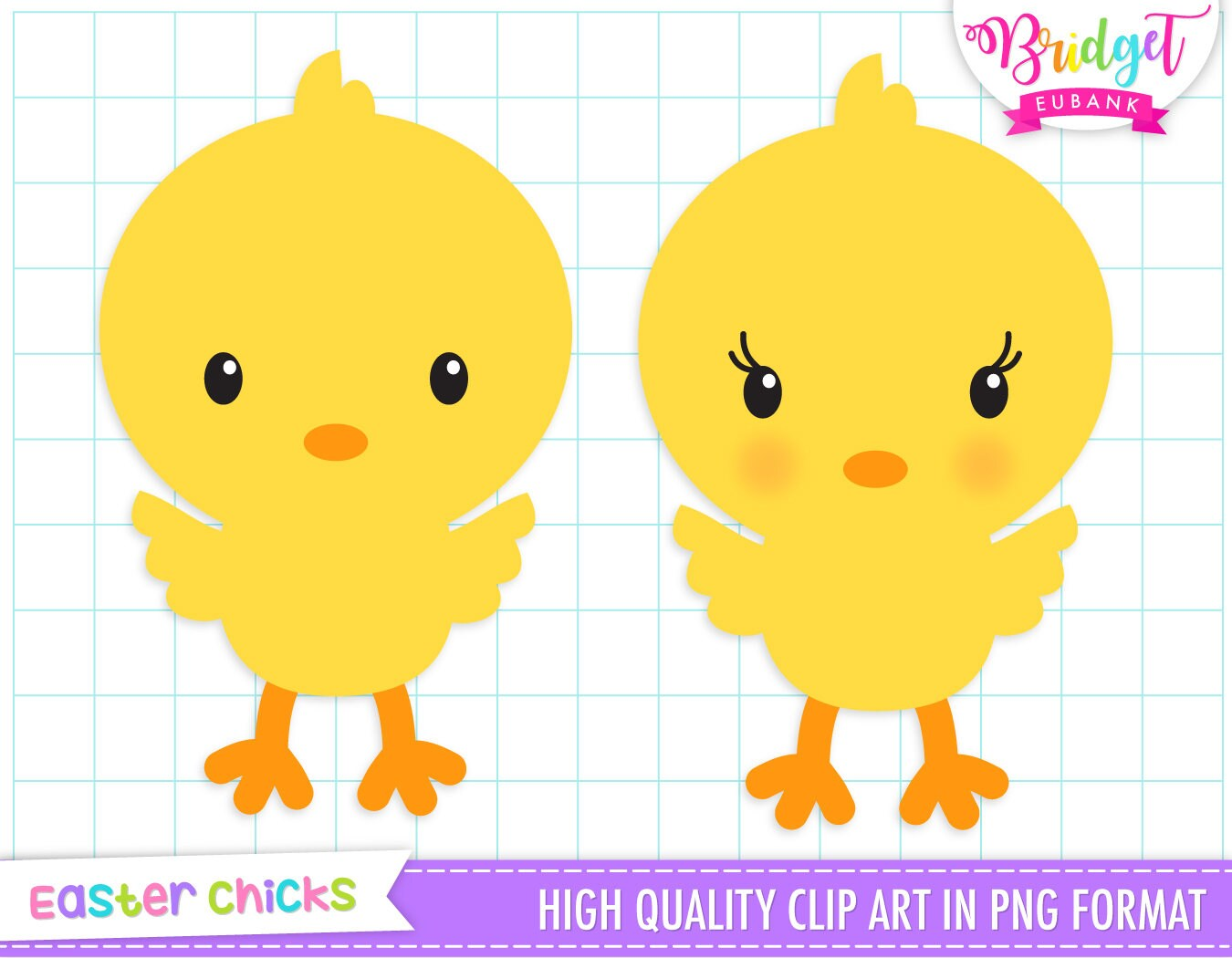 Easter Chicks Clip Art Easter Clipart Cute Chicks Baby Etsy