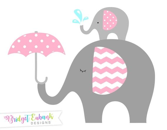 Clipart Elefante Bebé Elefante Clipart Prediseñadas De Etsy
