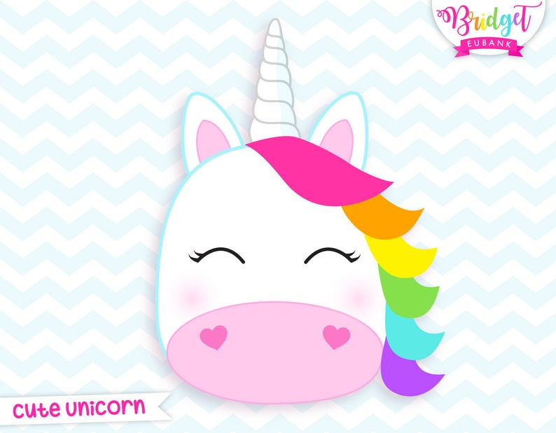 Unicorn clipart, unicorn head clipart, unicorn birthday, unicorn, unicorn  party, cute unicorn, Commercial Use, INSTANT DOWNLOAD