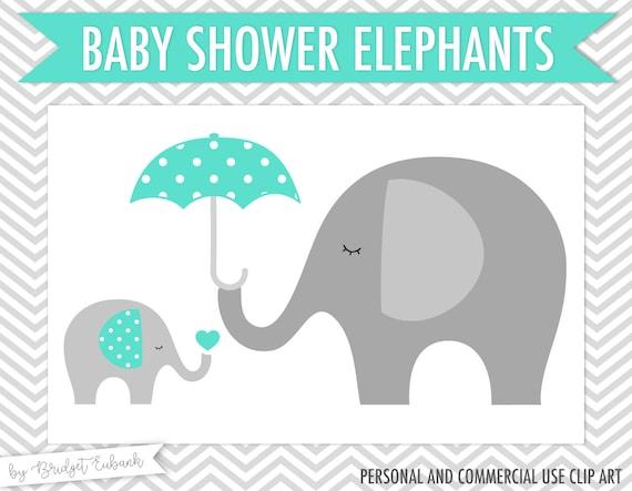 Baby Shower Clipart Elephant Clipart Baby Elephant Clipart Etsy