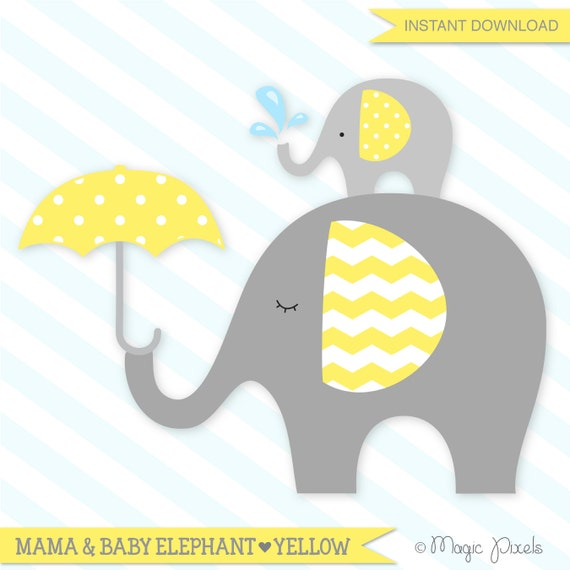 Elephant clipart, Baby elephant clipart, Elephant clip art, baby shower on