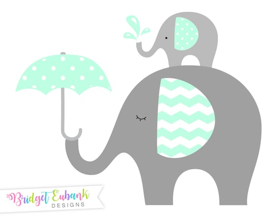 elephant clip art baby elephant clipart elephant clipart mint rh etsystudio com baby elephant with mom clipart elephant baby shower clipart
