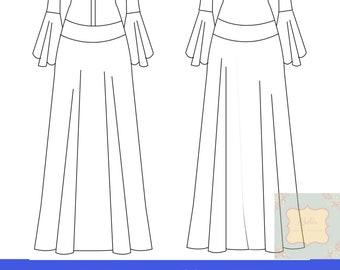 Patrones de vestido medieval mujer