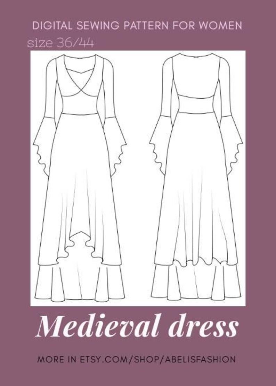 Como hacer patrones de vestido medieval mujer