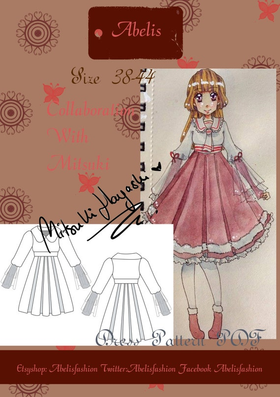 Lolita dress sewing pattern sailor lolita lolita dress | Etsy