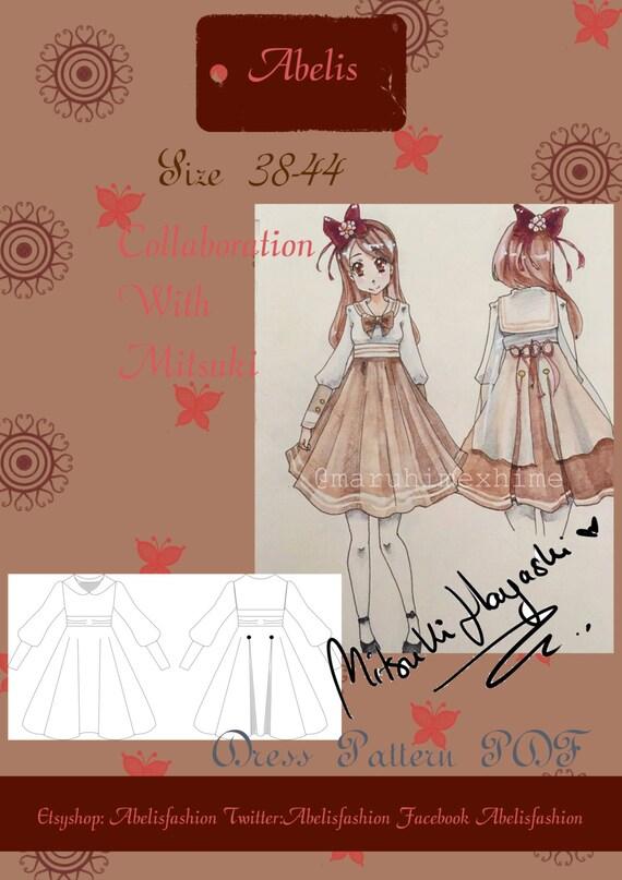 Lolita tea party Dress lolita dress sewing pattern sailor | Etsy