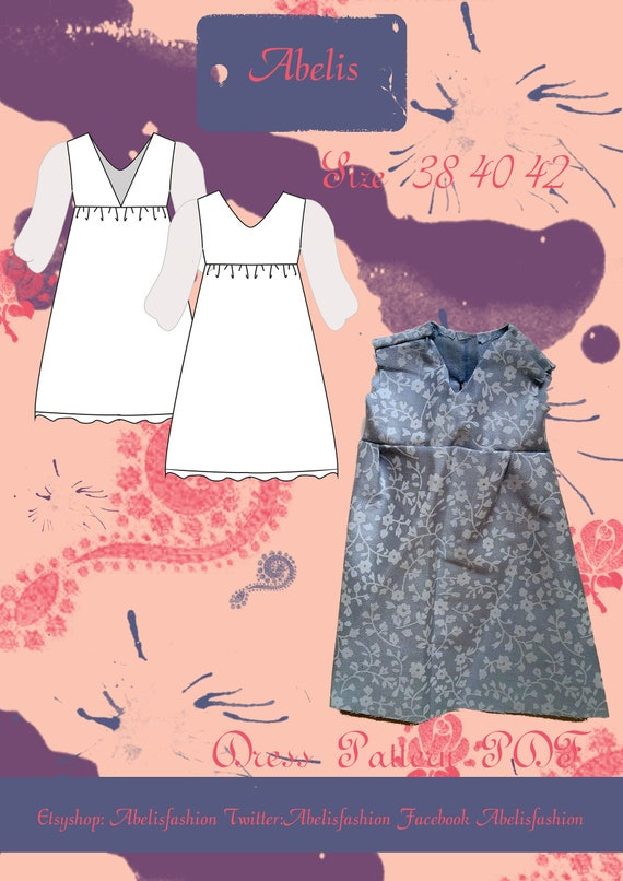 Sewing pattern women Maxi dress summer dress pattern date | Etsy