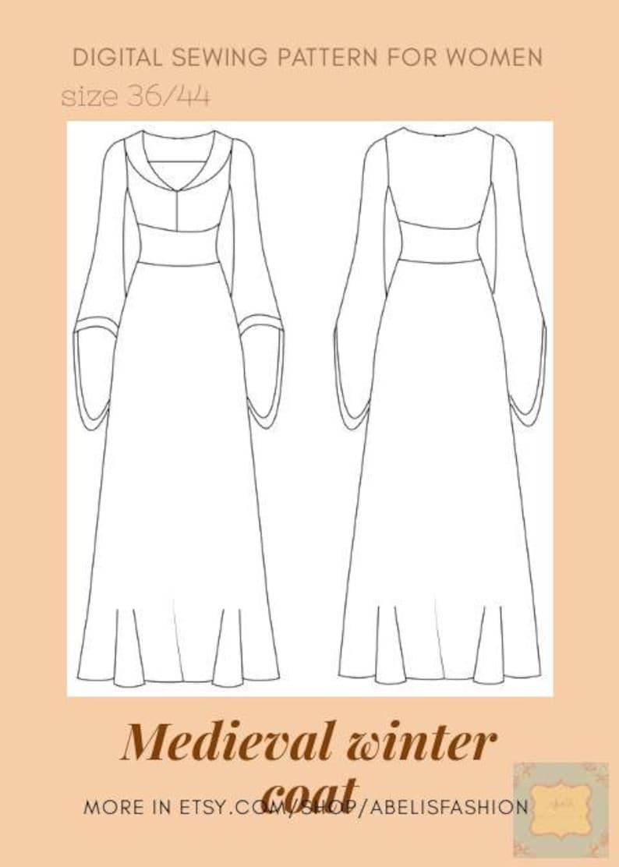 fb42dcf1f Abrigo medieval mujer patron vestido carnavalabrigo edad
