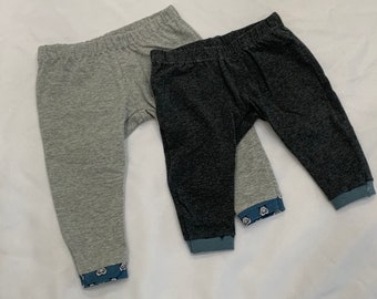Gray Baby Leggings , Solid Color Baby Pants