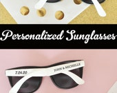 Wedding Sunglasses 24 Personalized Sunglasses Custom Sunglasses Sunglass Favors Destination Beach Wedding Favors (EB3107) - SET of 24| photo