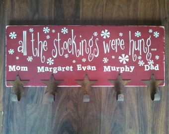 Family Christmas sign personalized - Birthday- Friends- gift - Christmas