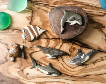Sea Life Wooden Magnets