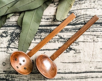 Bamboo Water Ladle and Strainer Ladle