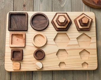 Big to Small Wooden Shape Puzzle