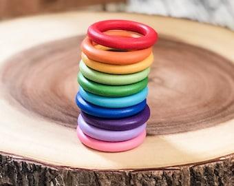 Rainbow Color Sorting Rings