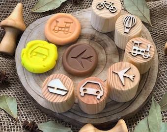 Transportation Playdough Stamps