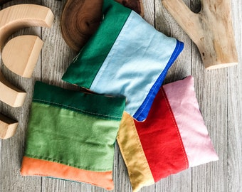 Set of 3 Rainbow Beanbags
