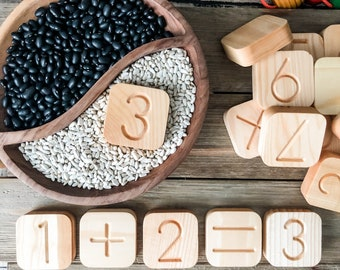 Wooden Math Cubes