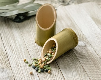 2 Natural Bamboo Scoops