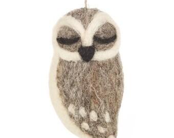 Sleepy Grey Owl