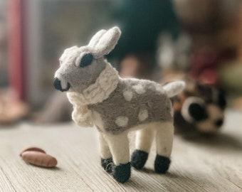 Winter Grey Deer