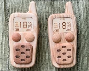 Set of Wooden Walkie Talkies