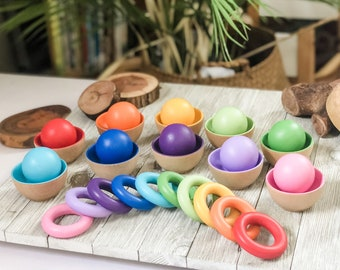 Toddler Size Rainbow Rings Or Balls - Preorder for 11/1 Ship