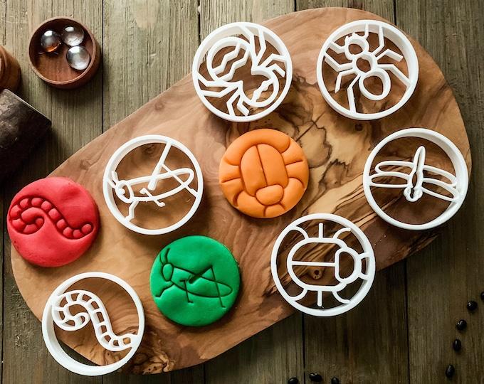6 Mini Beast Bio Plastic Dough Cutters