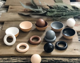 Neutral Toddler Rings, Balls, or Bowls - Preorder for 11/8 Ship