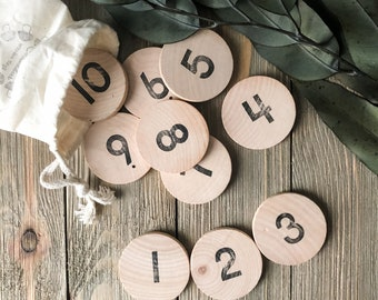 1-10 Number Coins