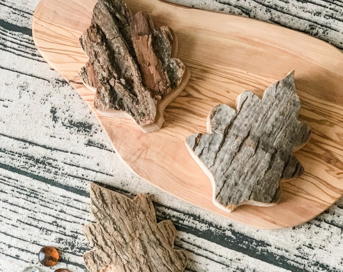 Large Bark Wood Leaf Shapes