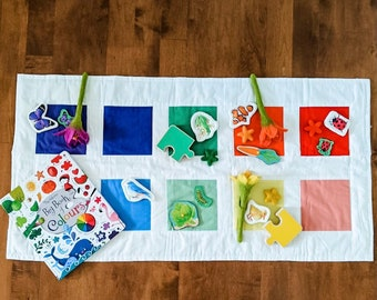 Color Block Quilt and 10 matching Beanbags
