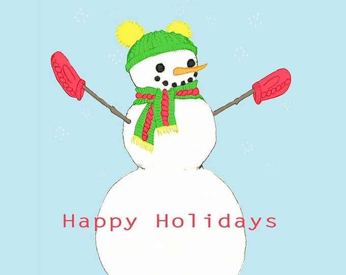 243 Snowperson Happy Holidays Card