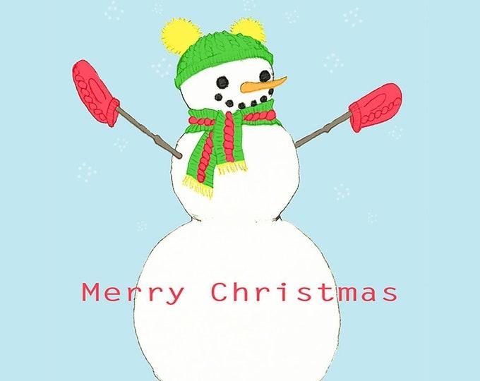 241 Snowperson Merry Christmas Card