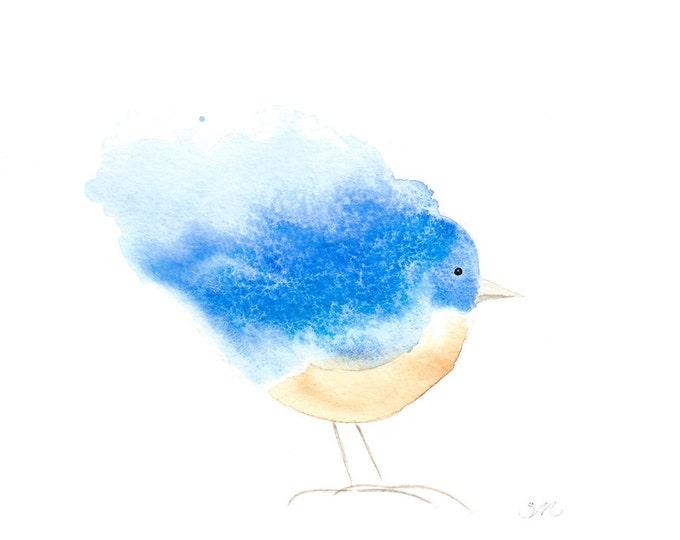 178 Little Bluebird Whimsey Card | Baby Shower Invitation | Baby Gift | Happy Birthday