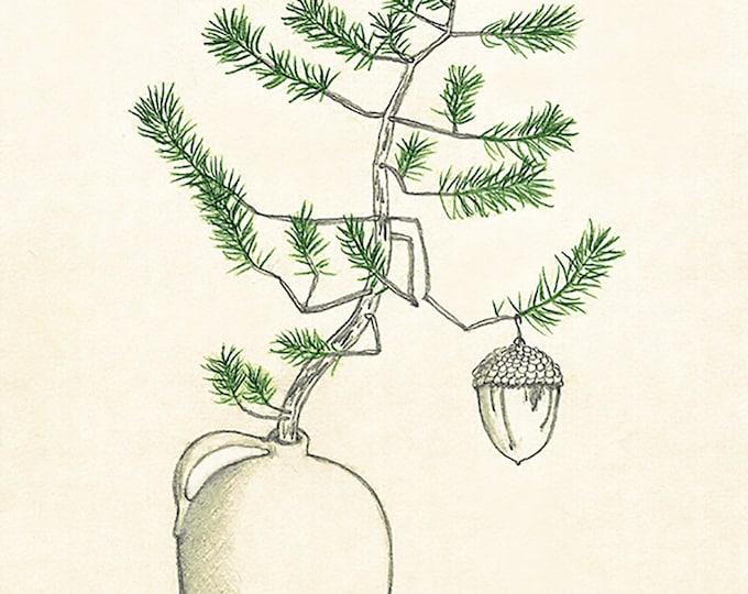 245 3rd Annual Christmas Tree Acorn Ornament Card