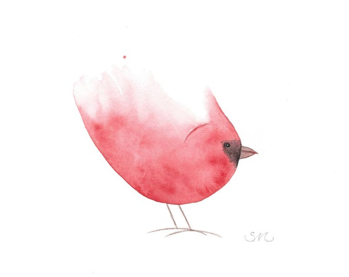 Little Cardinal Whimsey Card