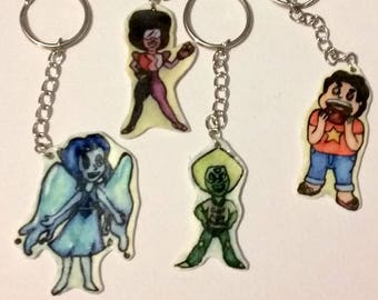 Watercolor Steven Universe Keychains