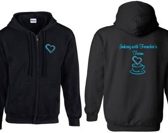 Frenchie's Team zip hoodie (optional bling)
