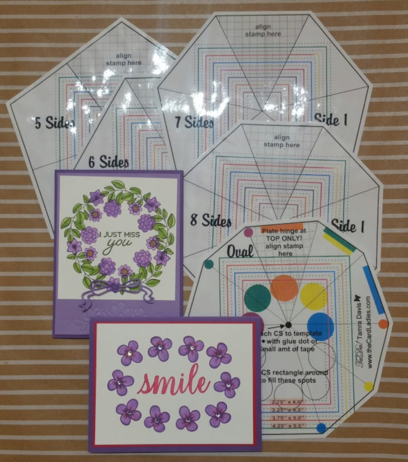 Templates for Easy Round or Oval Stamping With Your image 0
