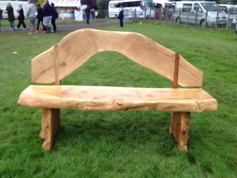 Solid Scottish Oak hand made garden bench | Etsy