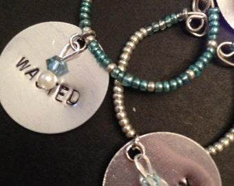Hand Stamped Wine Charms