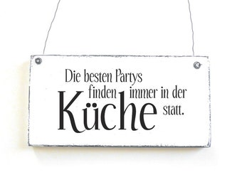Wooden sign KITCHENPARTIESS Decoration sign saying sign