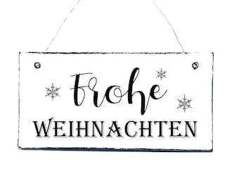 FROHE CHRISTMAS Door Sign Sign Deco Sign Wooden Sign